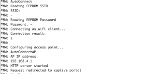 esp8266 wifi manager debug output
