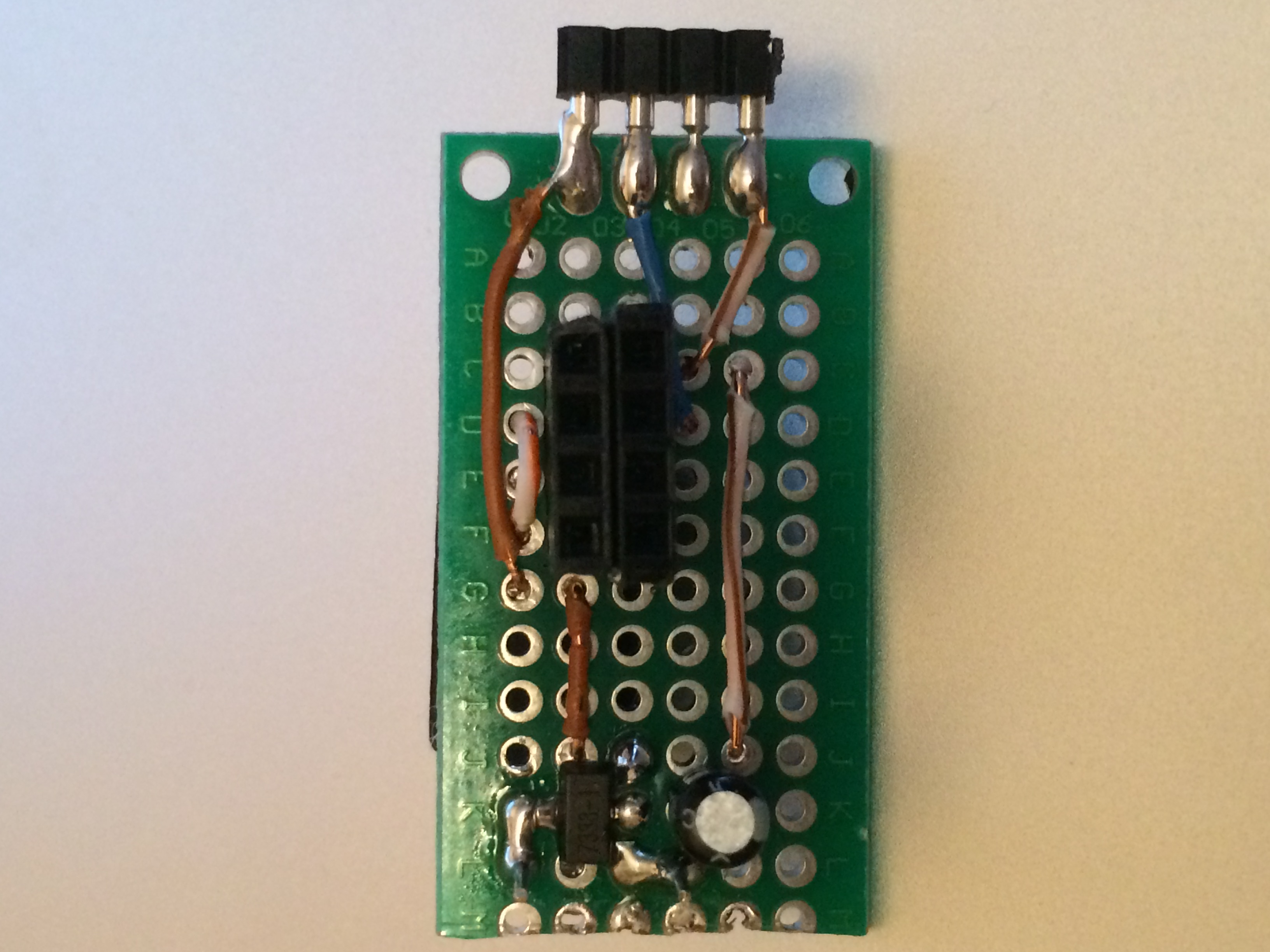 Deep sleeping ESP8266 wifi temperature and humidity board top side